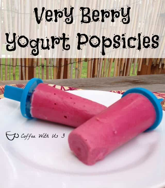 Very Berry Yogurt Popsicles