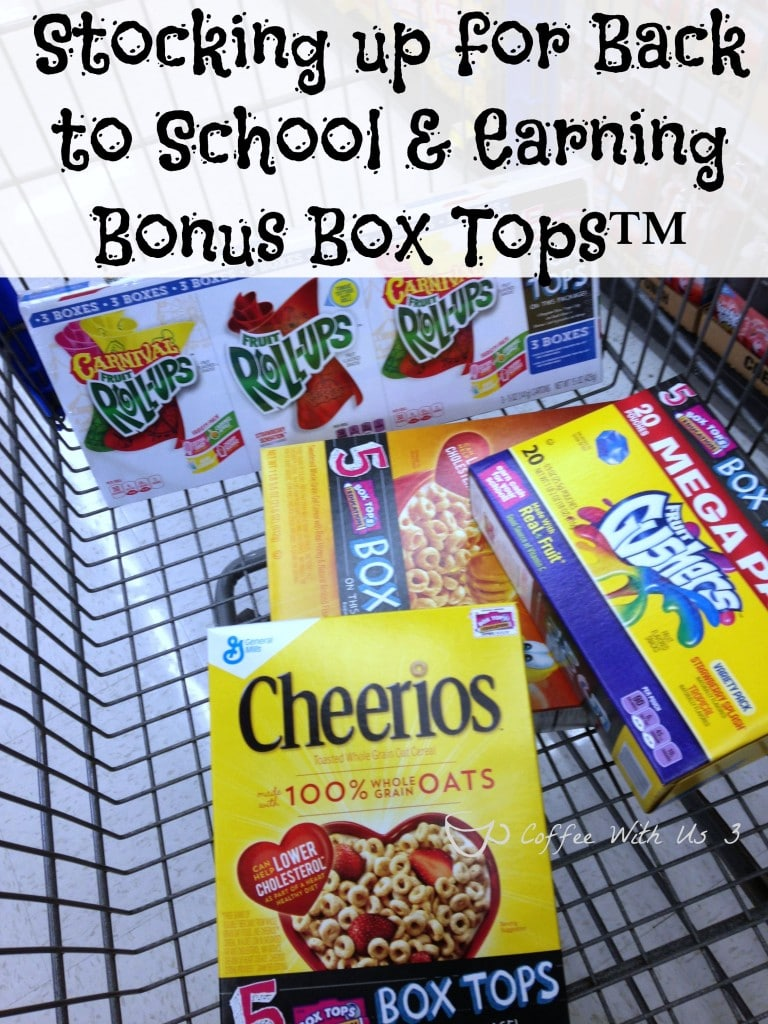 "It's back to school time which means it's time to start collecting Box Tops™ again!! So head over to Walmart and stock up on specially marked ""Bonus Box Tops"" General Mills® products!"