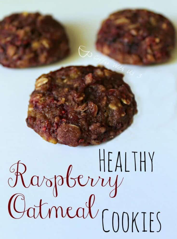 Healthy Raspberry Oatmeal Cookies