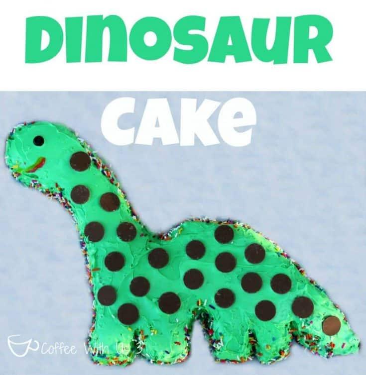 DIY Dinosaur Cake