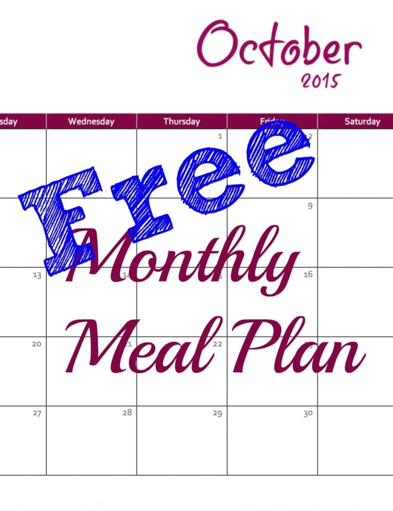 Monthly meal plan 3.10