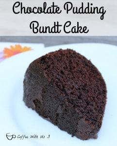 chocolate pudding bundt cake slice