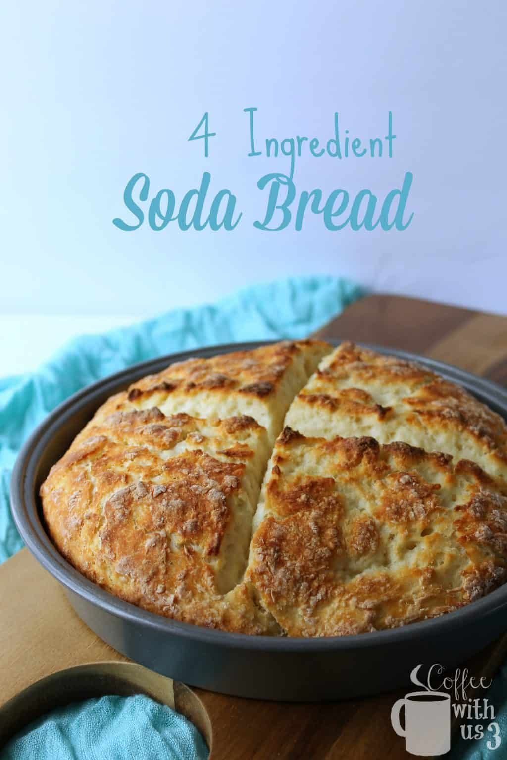 Just 4 ingredients and 45 minutes to have fresh, homemade soda bread on the table!