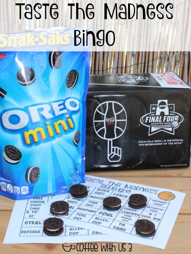 Get the whole family excited for the Big Tournament with OREO Basketballs, Coke Zero, & Taste the Madness Bingo!! #GreatTasteTourney