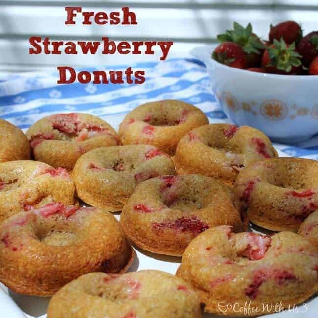 Fresh Strawberry Donuts 2