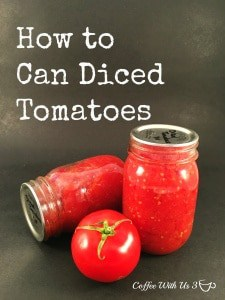 How to Can Diced Tomatoes from beginning to end. Canning tomatoes is a great way preserve your garden to use through the winter and spring.