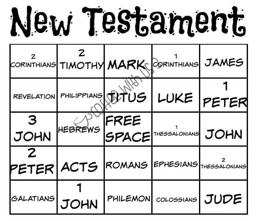 New Testament Bingo
