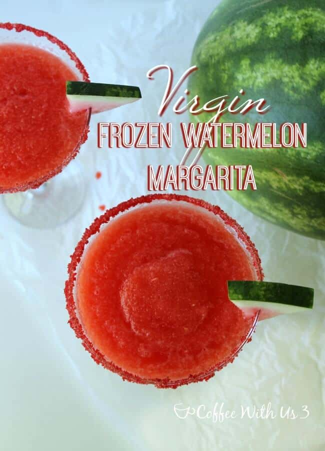 Virgin Frozen Watermelon Margaritas is a mocktail recipe the whole family will enjoy!