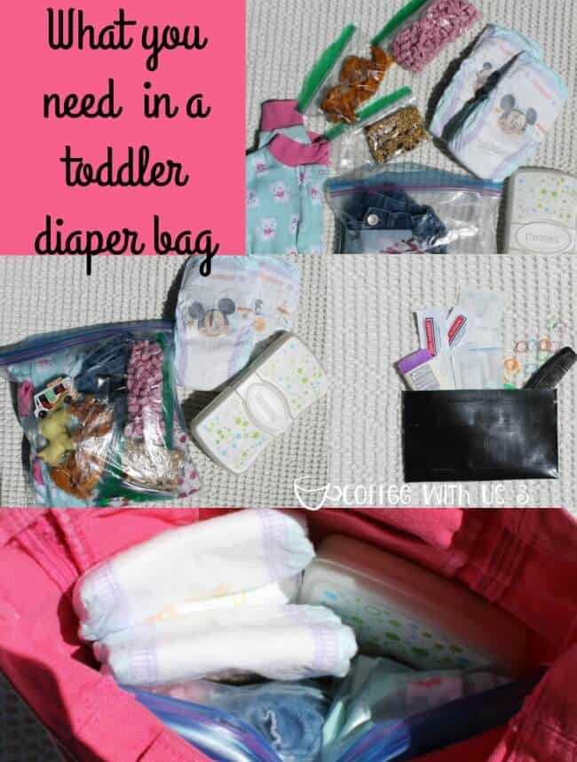 What you need in a toddler diaper bag
