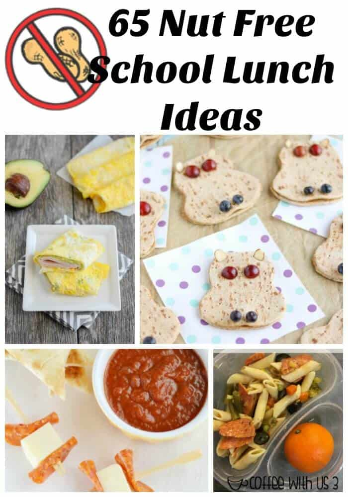 Does your child have a nut allergies or go to school with those who do?  Try these 65 great nut free school lunch ideas!