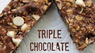 Triple Chocolate Granola Bars