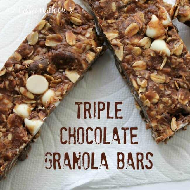 No-Bake Triple Chocolate Granola Bars