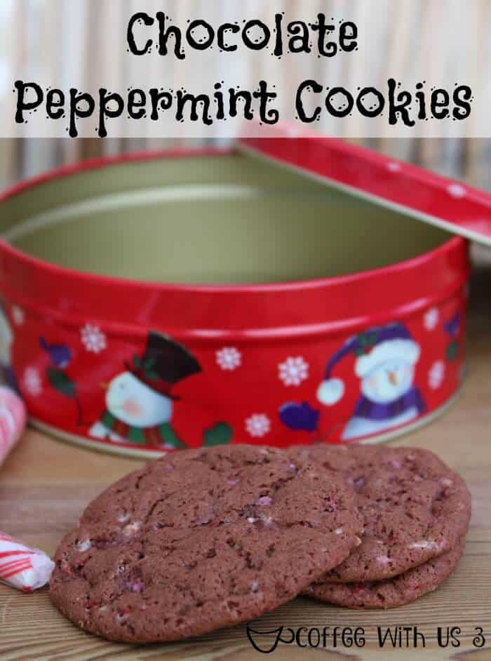 Crushed candy canes combined with my favorite chocolate cookie recipe make these peppermint chocolate cookies a holiday favorite.