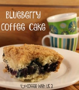 Traditional coffee cake flavors with a layer of sweet fruit make this blueberry coffee cake a with friends