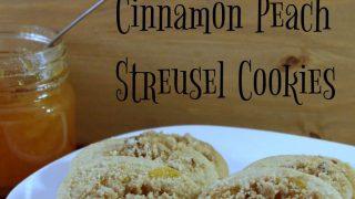 Cinnamon Peach Streusel Cookies