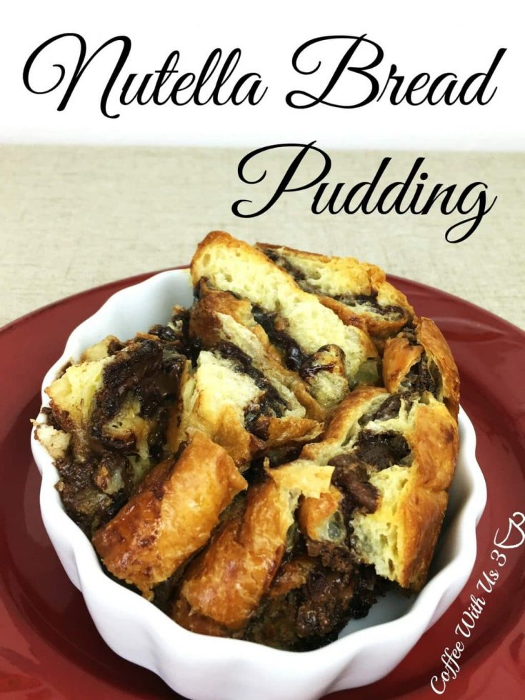 Nutella Bread Pudding is a delicious, rich, chocolate bread pudding. This bread pudding is easy to make and wonderful to share.