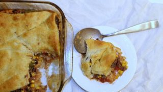 Leftover Hamburger Vegetable Soup Pot Pie