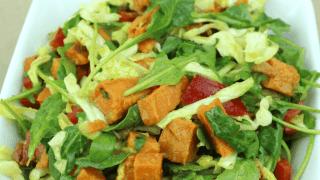 Autumn Roasted Sweet Potato & Arugula Salad