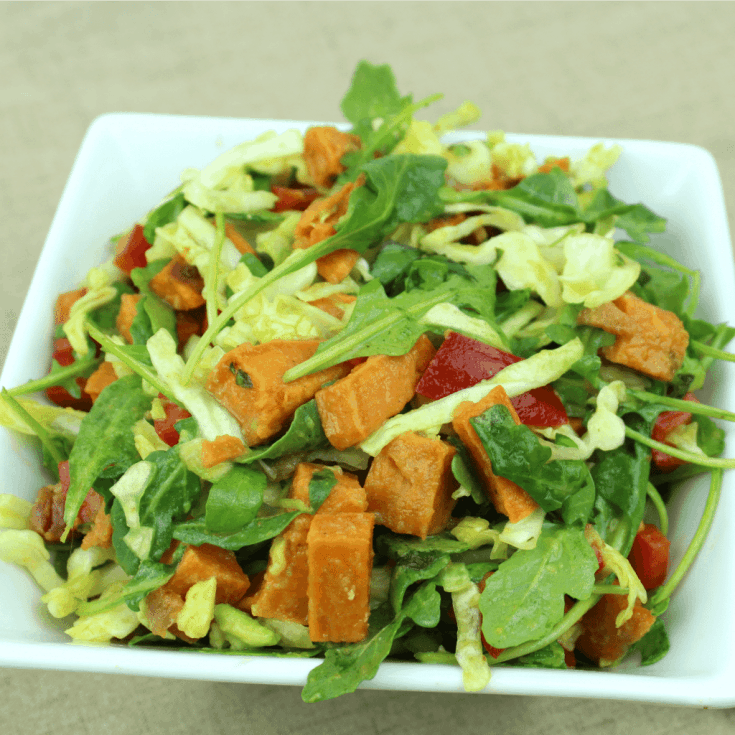 Autumn Roasted Sweet Potato & Arugula Salad