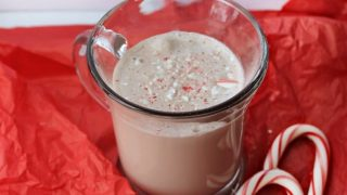 Candy Cane Frozen Hot Chocolate Milkshake