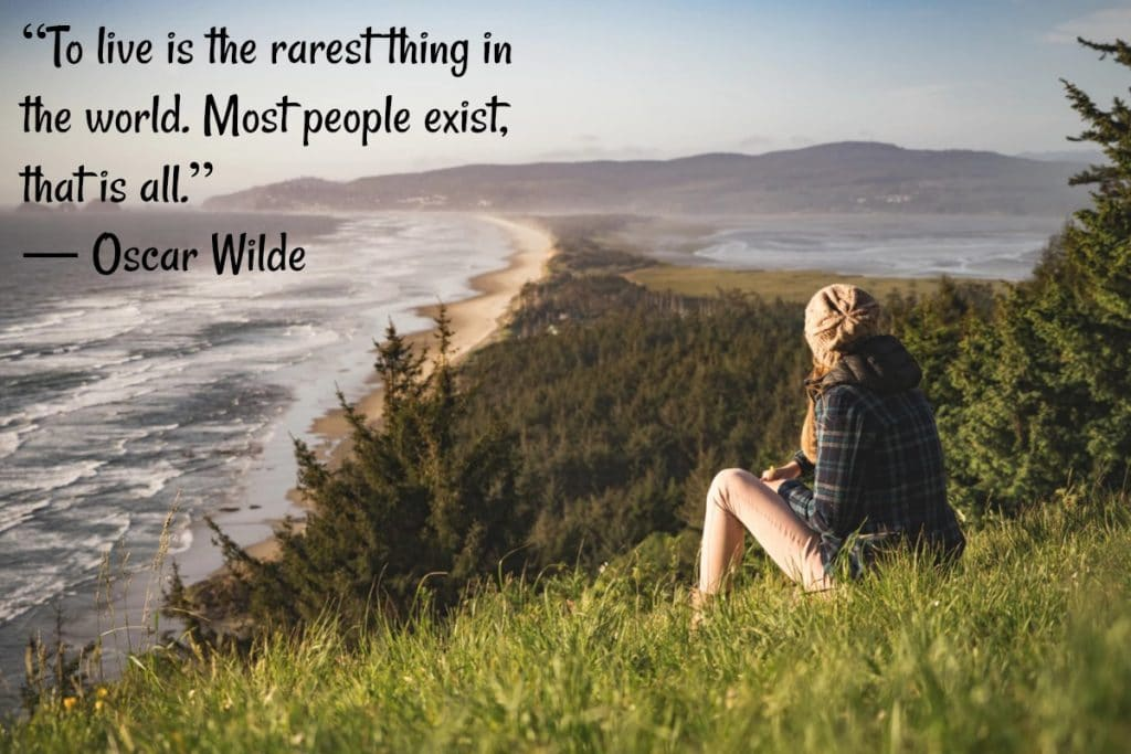 To live is the rarest thing in the world - Oscar Wilde Quote