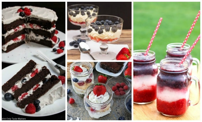 Layers of red, white, and blue in these festive recipes for the Olympics