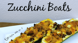 Keto Beef & Bacon Zucchini Boats