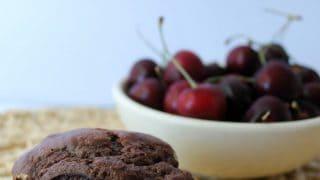 Chocolate Cherry Cheesecake Muffins