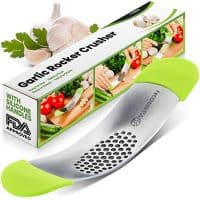 Yarmoshi Garlic Press Rocker Stainless Steel Mincer