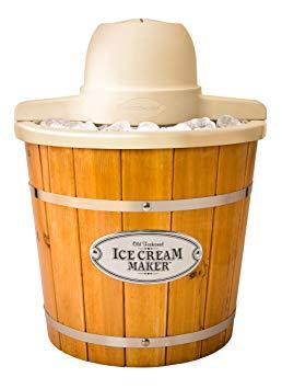 Nostalgia 4-Quart Electric Wood Bucket Ice Cream Maker