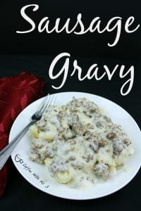 Sausage Gravy is a simple yet delicious gravy to use for biscuits and gravy. 3 ingredients make this recipe super easy for a quick breakfast.