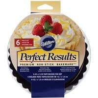 Wilton Perfect Results 4.75 Inch Round Tart/Quiche Pan, Set of 6