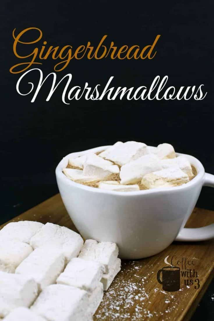 Gingerbread Homemade Marshmallows have that quintessential Christmas flavor of molasses, cinnamon, nutmeg, and of course ginger. A perfect Christmas treat.