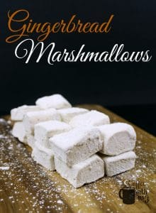 Gingerbread Marshmallows on charcuterie board.