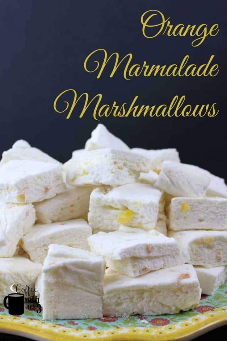 Orange Marmalade Marshmallows takes orange marmalade and makes it amazing. The sweetness of the marshmallow mellows out flavors of the marmalade.