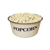 Enamelware Popcorn Bowl 4 Quart