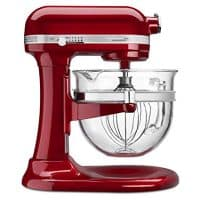 KitchenAid Professional Design Series Candy Apple Red Bowl-Lift Stand Mixer with 6 Quart Glass Bowl