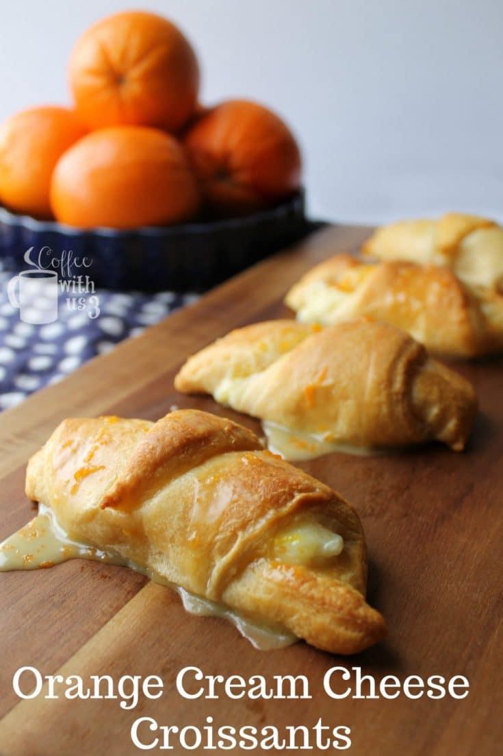 Orange Cream Cheese Croissants