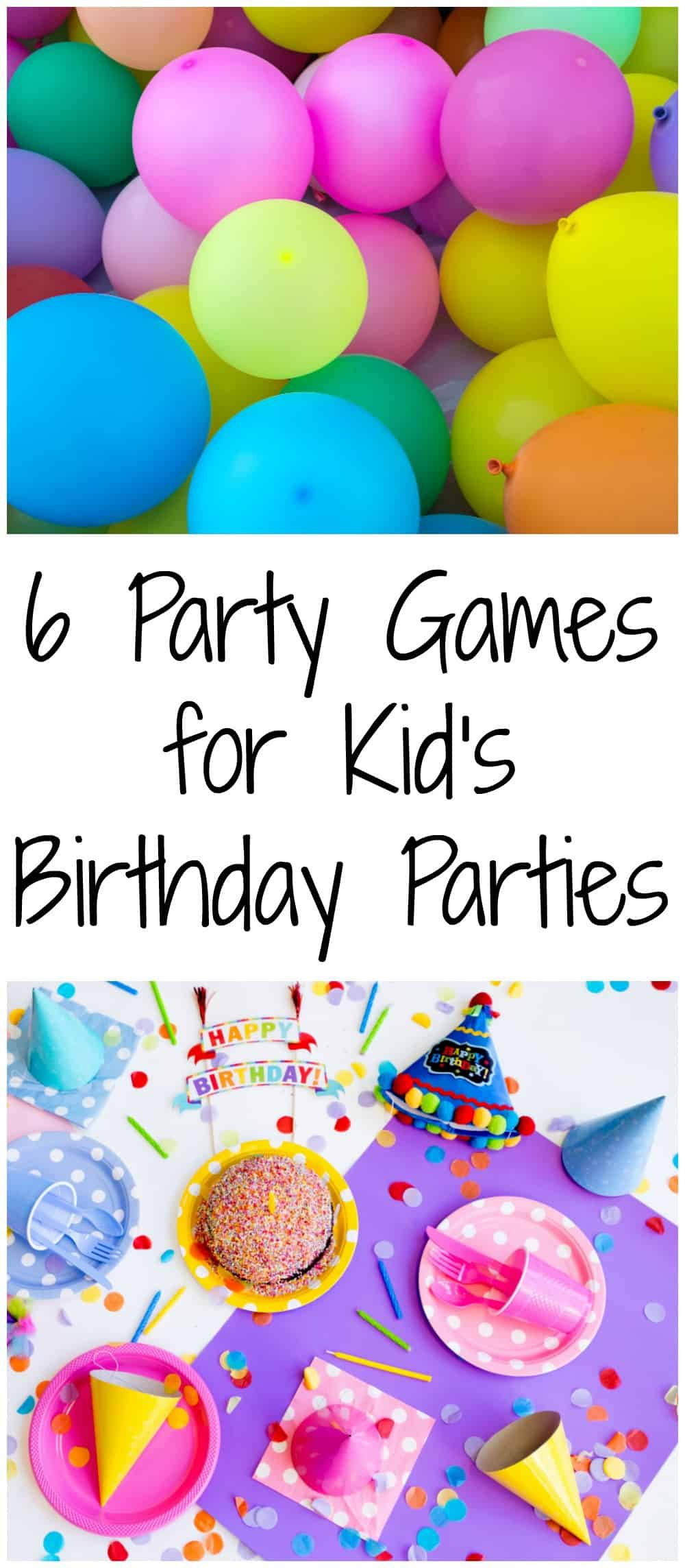 6 tried and true party games for kid's birthday parties!