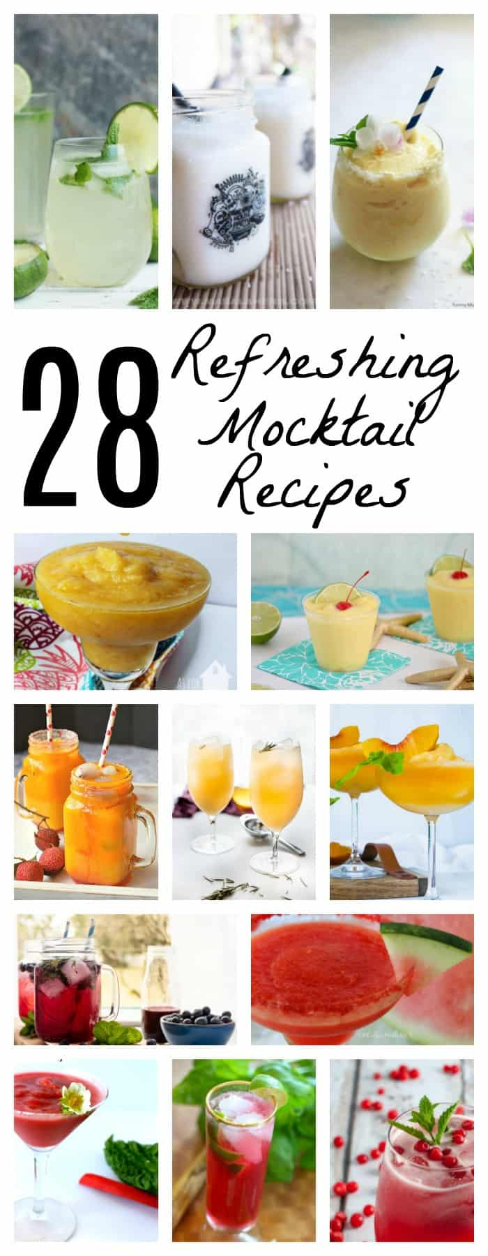 28 Refreshing Summery Mocktail Recipes that the whole family can enjoy!
