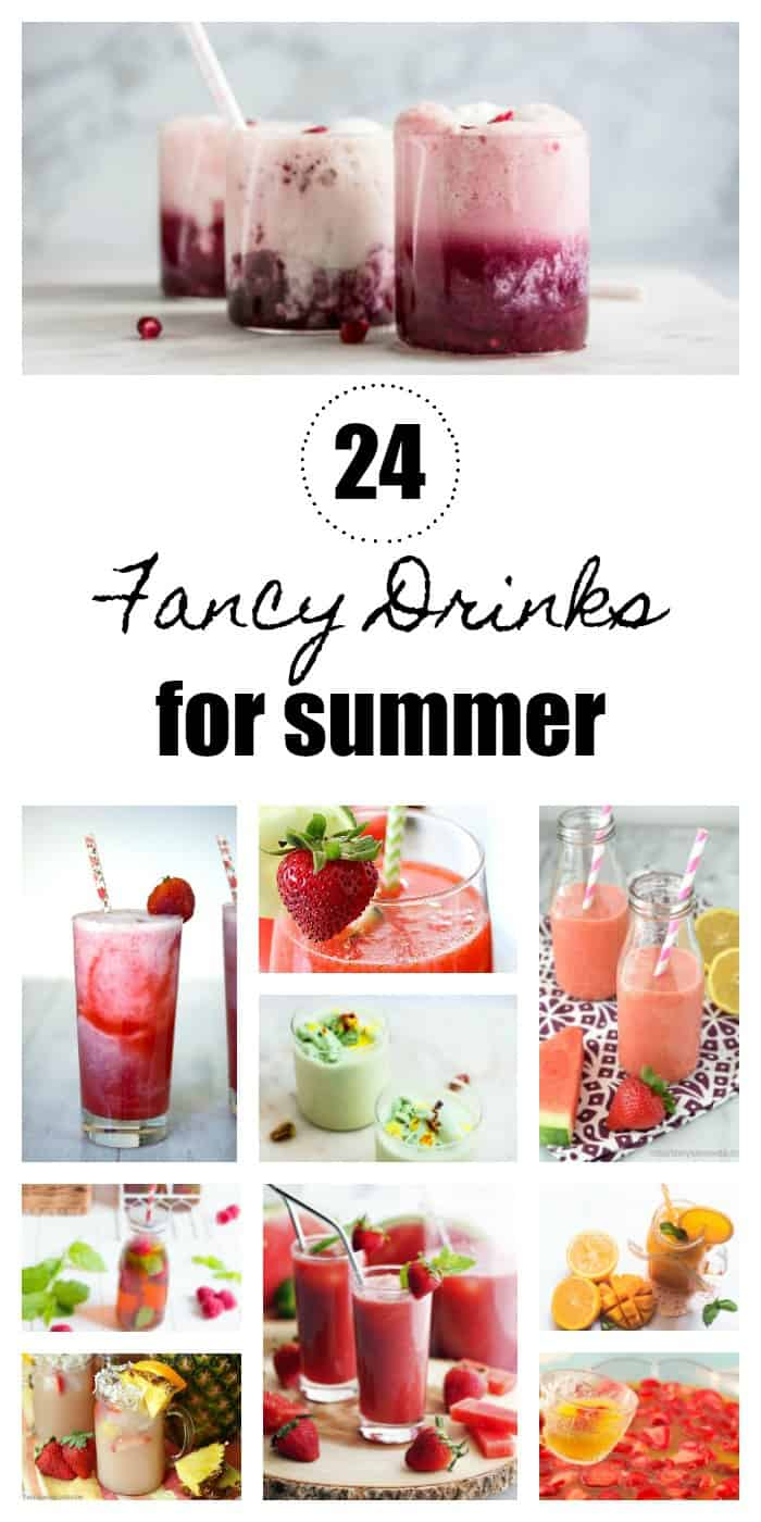 When it's hot during the summer, it can be hard to stay hydrated.  These fancy, family-friendly drinks will help you stay refreshed all summer long!