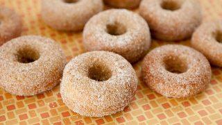 Cinnamon Sugar Pumpkin Cake Donuts