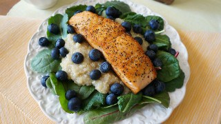 Superfood Salmon Salad with Meyer Lemon Dressing