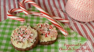 Peppermint Bark Chocolate Sugar Cookies