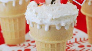North Pole Dirt Cake Cones