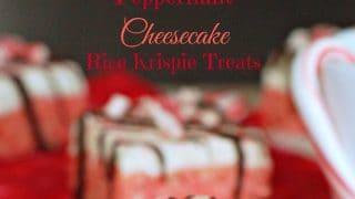 Peppermint Cheesecake Rice Krispie Treats