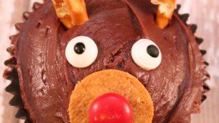 Easy Kids Reindeer Christmas Cupcakes