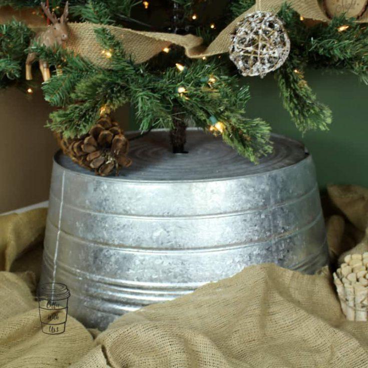 Washtub Christmas Tree Skirt