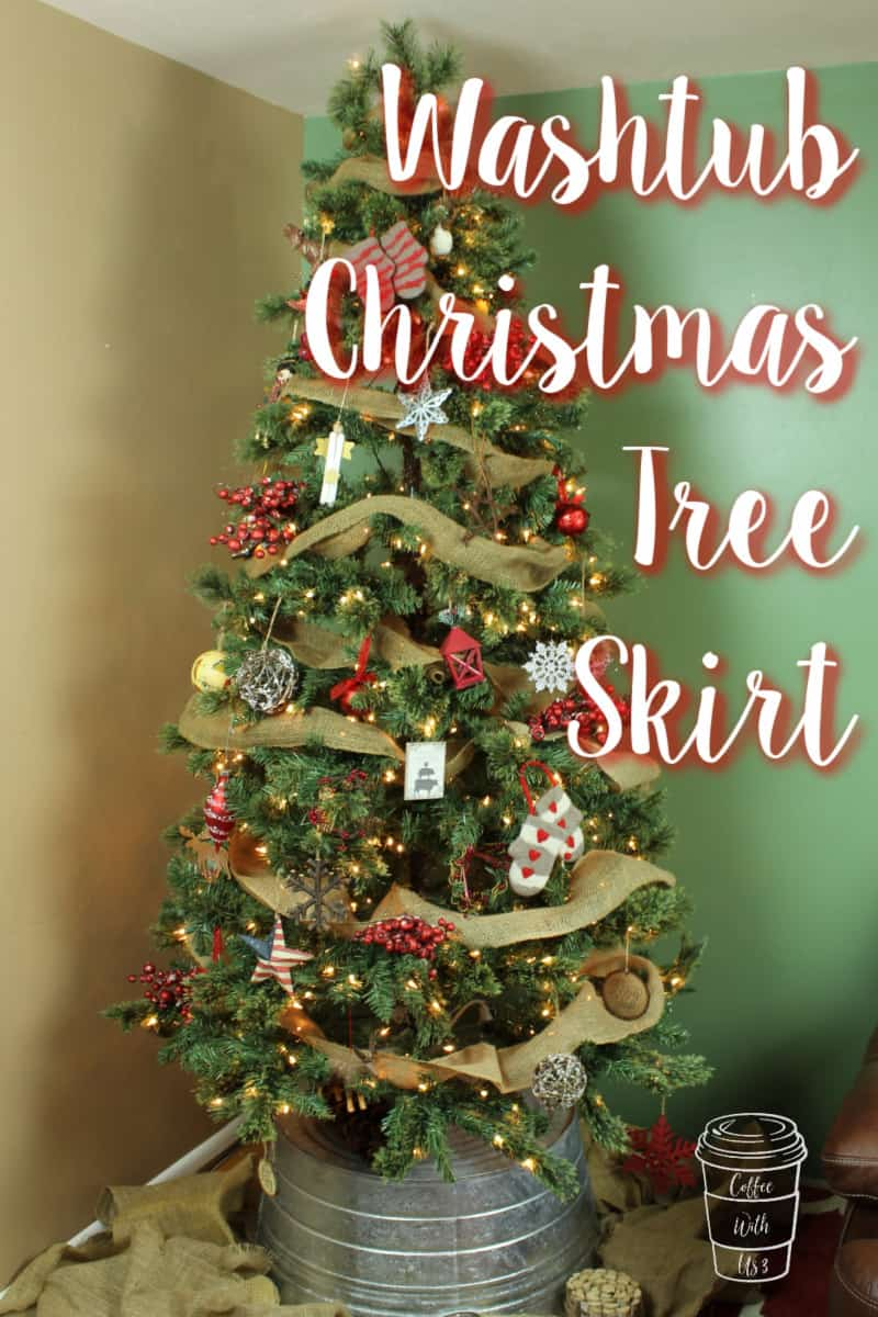 Washtub Christmas Tree Skirt Coffee With Us 3
