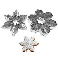 Snowflake Cookie Cutters Metal 2 Set 14 pcs